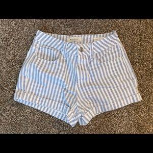 Blue & white stripped shorts